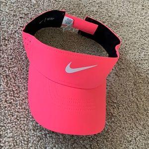 Hot pink Nike visor